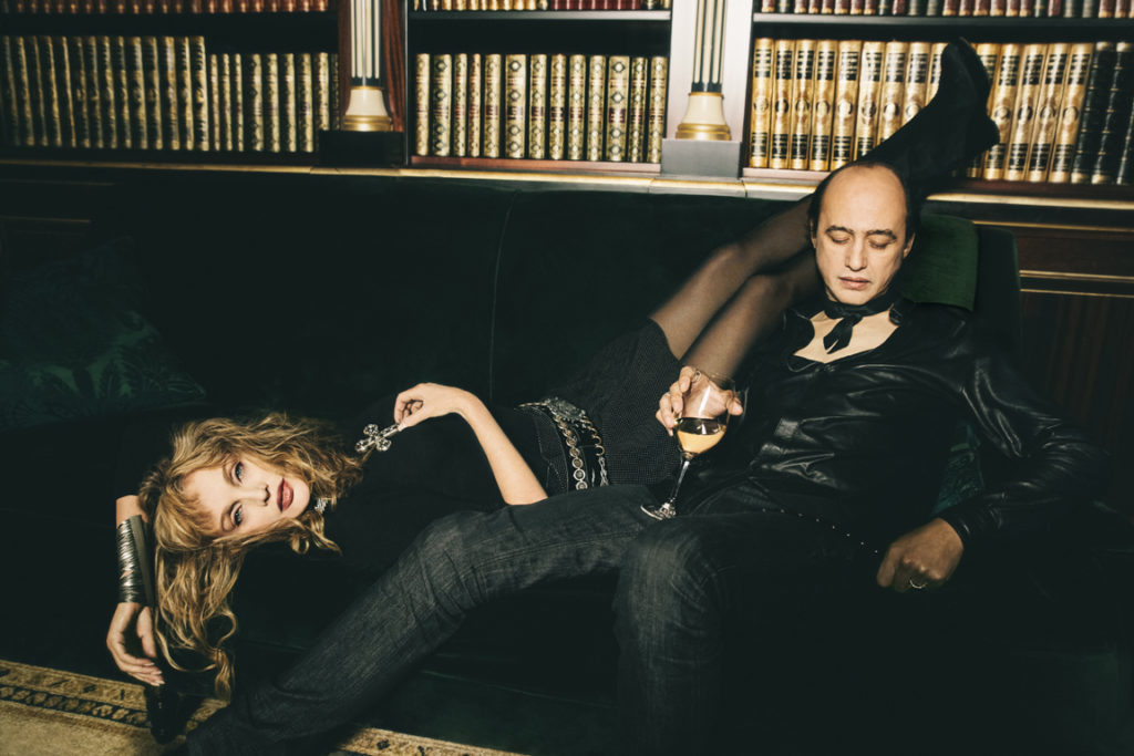 Arielle Dombasle et Nicolas Ker par Charlélie Marangé