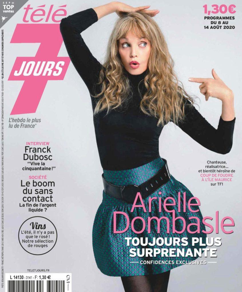 Arielle Dombasle en couverture de Télé 7 Jours